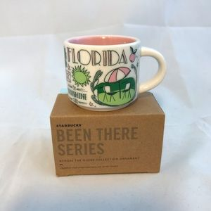 Starbucks Florida Mini Mug Ornament 2 oz Been Ther